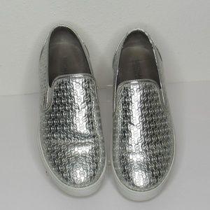 MICHAEL KORS Ivy Alita Silver Slip-On Sneaker